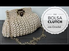How to crochet Chanel boy bag Crochet Diy, Crochet Pouch, Crochet Hats, Crochet Handbags, Crochet Purses, Purse Patterns, Crochet Patterns, Crochet Tank Tops, Bobble Stitch