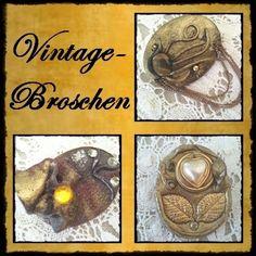 Weiteres - *Handmade Broschen*  125-69+70+71 - ein Designerstück von raritaeten-kammerl bei DaWanda