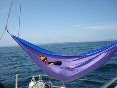 Hammock on boat