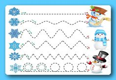 Прописи, дорожки, лабиринты на зимнюю тему. - Babyblog.ru Christmas Worksheets, Christmas Games, Winter Activities For Toddlers, Toddler Activities, Tracing Sheets, Baby Club, Autism Classroom, New Years Decorations, Pre Writing