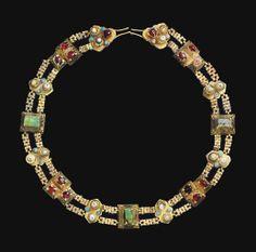 A SELJUK INSET GOLD BELT -  SELJUK IRAN OR ANATOLIA, 12TH/13TH CENTURY