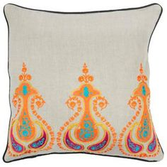 Jaipur Pillow.  Would <3 this on ou bed.