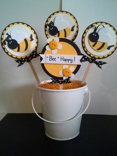 Bumble Bee party decor decoration paper bouquet handmade by dalayney from chucklesandcharms on etsy.