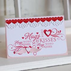 A lovely card made by Betsy Veldman. She used several stamps and stamped in one colour.