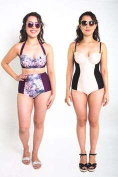 Sophie Swimsuit Pattern // High Waisted Bikini & Bustier One Piece // Closet Case Files Source by padaddylove Pyjamas, Swimsuit Pattern, Sewing Lingerie, Love Clothing, One Piece Swimwear, Swimsuits, Bikinis, Sewing Clothes, Sport