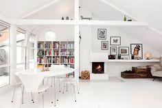 my scandinavian home: A wonderful white Norwegian loft space
