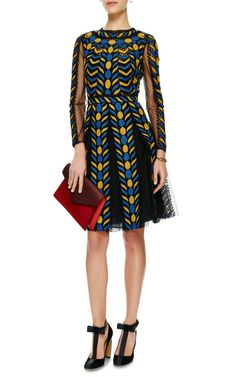 Embroidered Lace and Organza Dress by Valentino - Moda Operandi