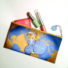 Pan Am  make up bag by LeaseAPenny on Etsy, $24.00