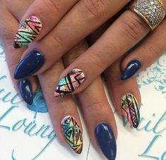 Colorful Pointy Nails