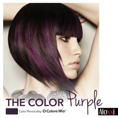 This year, we're seeing through purple-colored glasses…. #hairtrend | #WhatsYourColorPersonality