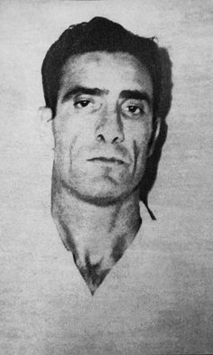"""Gambino soldier Gaetano Altamura aka Tommy aka The Enforcer (1913-1967). The imposing Miami-based Gambino Family mobster that was known to hobnob with celebrities and millionaires around the ritzy North Bay Village neighborhood was killed on Halloween night 1967, shot in the back of the head at the Harbor Lounge. Altamura had been feuding with fellow South Florida mob figure, Anthony """"Big Tony"""" Esperti, a boxer turned gangster. Esperti got life in jail. Courtesy: Avi Bash/OC in Miami book Real Gangster, Mafia Gangster, Carlo Gambino, Famous Outlaws, Scum Of The Earth, Al Capone, Tough Guy, The Godfather, Halloween Night"""