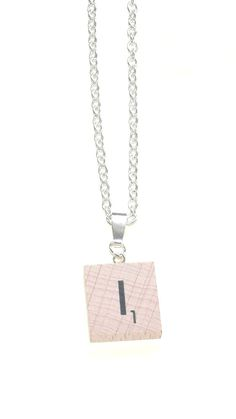 Personalised 'I' Necklace~ Necklace~I Scrabble Necklace~RARE-New