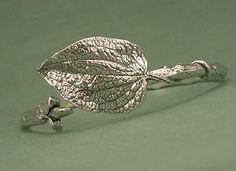 Sterling Silver Leaf  Beading Arts: Jewelry artists: Stratus Silver Jewelry Company