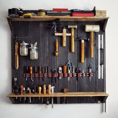 A Wall-mounted Rack for my Leatherworking Tools