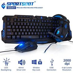 SportsBot SS301 Blue LED Gaming Over-Ear Headset Headphone, Keyboard & Mouse Combo Set w/ 40mm Speaker Driver, High-Quality Microphone, Multimedia Keys & Window Key Lock, 4 DPI Levels (BLU), http://www.amazon.in/dp/B018T5Y9YA/ref=cm_sw_r_pi_awdl_xs_wgzNyb0Z65AKG