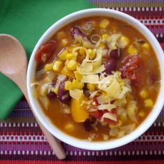 Slow Cooker Mexican Corn and Bean Soup