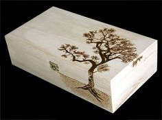 Tree Pyrography Box | tree box by ~Athanasiart on deviantART