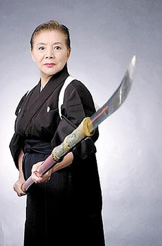 """Hanae Miura, 70, is the only person outside Japan who teaches traditional jikishinkageryu naginata-jutsu."""