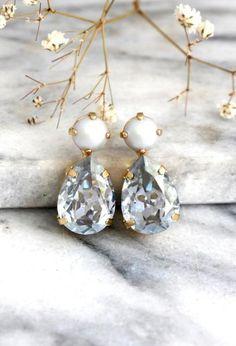 Pearl Stud Earrings - Buy Now Dusty Blue Earrings, Bridal Dusty Blue. Bridesmaid Earrings, Wedding Earrings, Bridesmaids, Pearl Stud Earrings, Blue Earrings, Diamond Earrings, Stylish Jewelry, Fine Jewelry, Dusty Blue