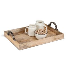 These wooden trays are uniquely nautical! Featuring rope handles and polished wood, they're great for anyone who loves a touch...
