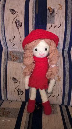 Pupinett baba - horgolt, fonható hajú puha kedvenc :)