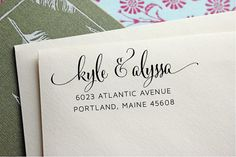 Custom Address Self Inking Stamp