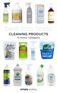 Best Non-Toxic Cleaning Products in every category! #nontoxic #cleaning #simplyquinoa