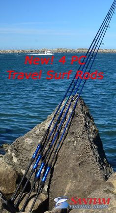 4 PC Surf Rods 9' to 12' built for travel!