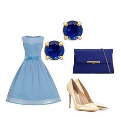 Formal double blue and gold