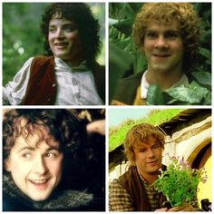 The four Hobbit members of The Fellowship of The Ring, Frodo, Merry, Pippin and Sam.