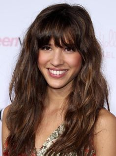 #wigsbuy Top Quality Glamour #Celebrity Hairstyle Long Loose Wavy Capless 100% #Human Hair Wig with Full Bang 18 Inches