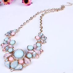 💍Statement necklace Goegeous colors! Brand new without tags T&J Designs Jewelry Necklaces