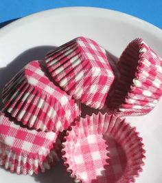 Pink Gingham Cupcake liners