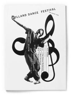 Studio Dumbar: Holland Dance Festival Visual Identity & Promotional Campaign