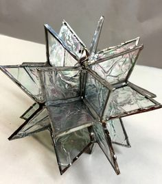 Contemporary Stained Glass Star Suncatcher Star by PeaceLuvGlass