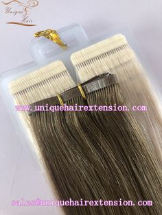 Different type of tape in hair extensions compare, factory price with 100% premium quality human hair, the hair very soft, tangle free no shedding, many fashion color you can choose, also can produce your own color ring. just contact our factory to get your wholesale price. Qingdao Unique Hair Products Co.,Ltd. www.uniquehairextension.com sales@uniquehairextension.com Whatsapp: +8613553058361 Tape In Hair Extensions, Qingdao, Unique Hairstyles, Color Ring, Fashion Colours, Hair Products, Salons, Photo And Video, Type