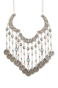 Chain Necklace with Accented Fringe Bib on HauteLook