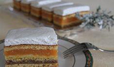 Prăjitură cu gem de caise, cremă de nuci si friscă, un rasfat culinar ideal pentru weekend • Gustoase.net Biscuit, Dairy, Cheese, Desserts, Food, Tailgate Desserts, Deserts, Essen, Postres