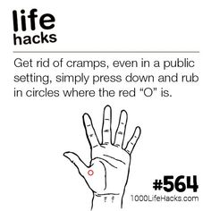 Get Rid Of Cramps Using This Pressure Point   1000 Life Hacks   Bloglovin'