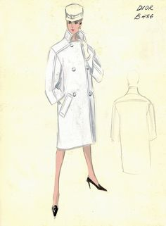Dior Coat by FIT Library Department of Special Collections, via Flickr
