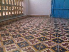 Zementfliesen, Marokko.  cement tiles, morocco.