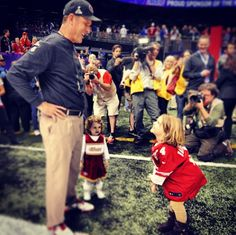 Jim Harbaugh Hanging Out With His Daughters Before The SuperBowl
