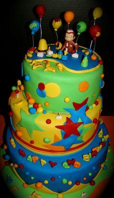 Make Curious George Cake Curious George Cakes, Curious George Party, Curious George Birthday, Baby First Birthday Cake, 3rd Birthday Parties, Dinosaur Birthday, 2nd Birthday, Birthday Ideas, Decadent Cakes