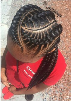Kids Braided Hairstyles, Box Braids Hairstyles, Black Women Hairstyles, Girl Hairstyles, Teenage Hairstyles, Protective Hairstyles, Trendy Hairstyles, Black French Braid Hairstyles, Corn Row Hairstyles