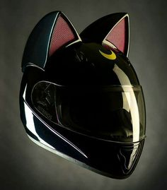 Hey Jessi, wanna start a Sailor Moon themed Daft Pink cover band? Sailor Moons, Sailor Moon Luna, Crazy Cat Lady, Crazy Cats, Luna Et Artemis, Durarara, Sailor Scouts, Motorcycle Helmets, Anime Motorcycle