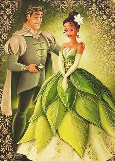 Tiana and Prince Naveen - Disney Fairytale Designer Collection Disney Pixar, Walt Disney, Disney Animation, Disney And Dreamworks, Disney Movies, Disney Dream, Cute Disney, Disney Girls, Disney Princess Art