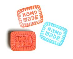 Hand Made hand carved rubber stamp. $10.00, via Etsy.