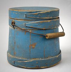 Firkin. loooove the old firkins!! never have enough of them around!! looooove the blue color too!!!!!