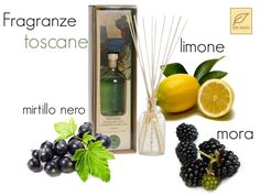 Scent of Tuscan emotions.. Lemon, blackberry and black ribes in one elegant bottle. Put it where you want and smell Tuscany all around.. http://www.drtaffi.it/fragrances/home-fragrances/fragrance-diffuser/diffusore-emozioni-toscane-250ml.html#.UgDQpGSoQUQ