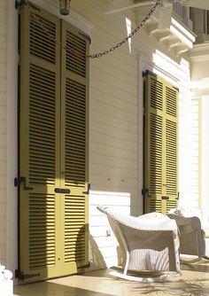Coastal Home with door shutters